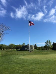 Jamestown Golf Course American Flag